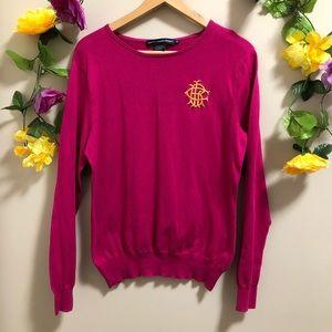 3/$30🦋 Ralph Lauren Sport Monogram Knit Sweater